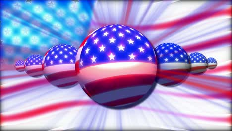 Animated-American-Flag-Sphere