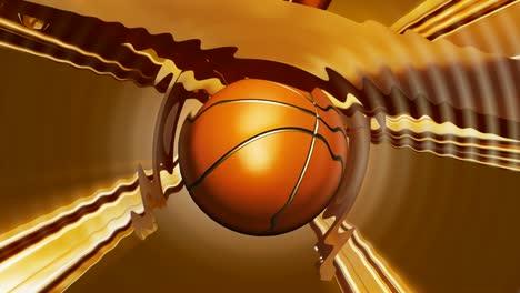 Rotating-Basketball-Golden-Ripples