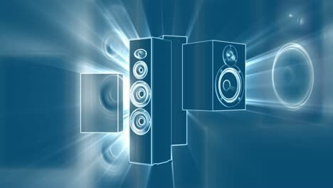 Rotating-Sound-System-Light-Blue-Lights