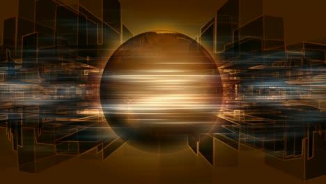 Rotating-Golden-Globe-&-Squares