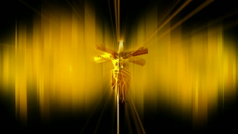 Animated-Christ-on-Cross-Golden