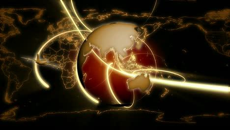 Revolving-Earth-&-Flying-Plane-Black-Tracers