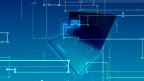 Rotating-Laptop-&-Cube-Hologram