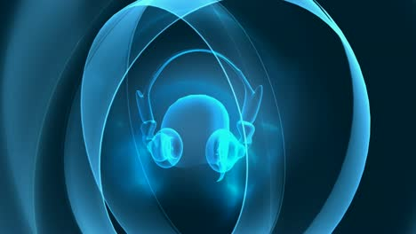 Rotating-Audio-Listener-Headphones-Blue-Rings