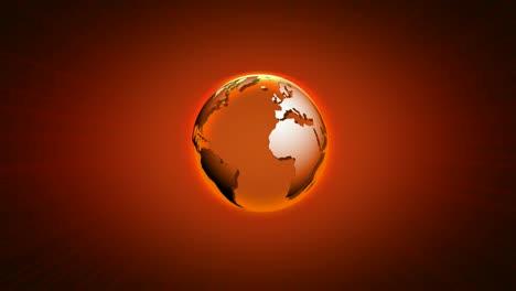 Rotating-World-Orange-Black-Background