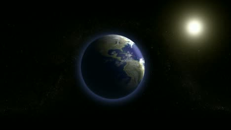 Earth-and-Sun-in-Space