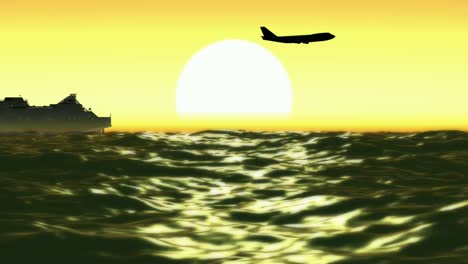 Plane-and-Ferry-Background