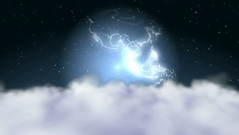 Plane-Flying---Stars-Clouds-Earth
