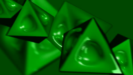 Spinning-Green-Pyramid-Shaped-Things