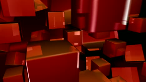Bouncing-Red-3D-Cubes
