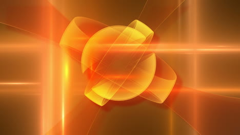 Abstract-Spinning-Orange-Rings-Loop