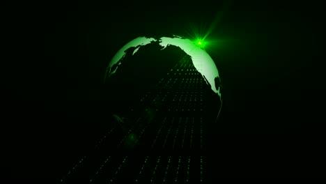 Globo-giratorio-con-láser-verde