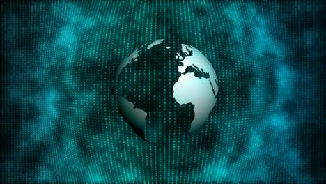 Rotating-Globe-with-Pixelated-Blue-Background