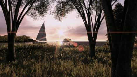 Animated-Walk---Woods-to-Sailboat
