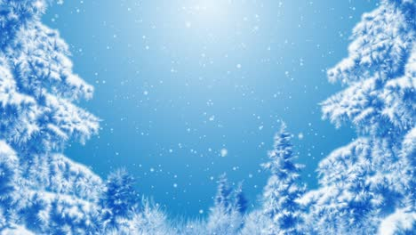 Blue-Winter-Background
