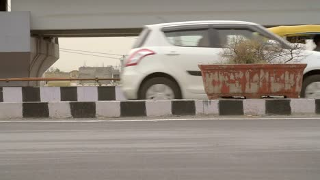 Close-Up-of-Traffic-on-a-Busy-Indian-Motorway