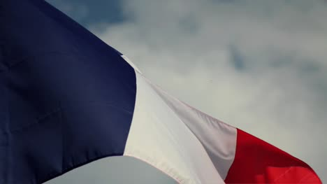 French-Flag-with-Blue-Sky