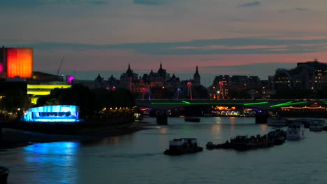 River-Thames-Time-lapse,-London