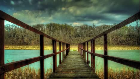 River-Dock-HDR-Time-Lapse