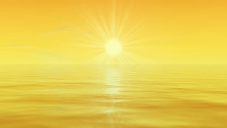 Sun-Over-Water-Motion-Background
