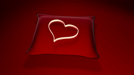 Heart-on-Red-Cushion-