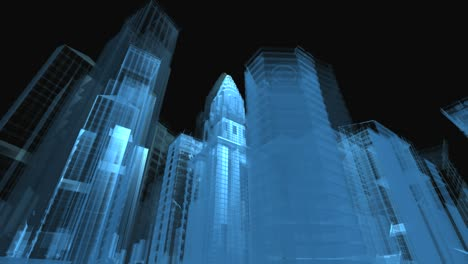 Wire-Frame-Abstract-City