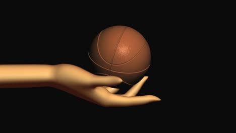 Rotating-basketball-In-Hand