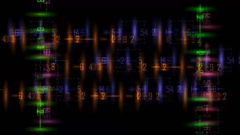 Abstract-Numbers-Motion-Background
