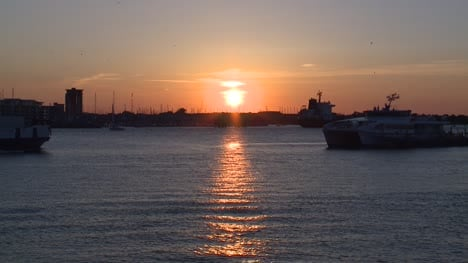 Sunset-over-Portsmouth-Harbour