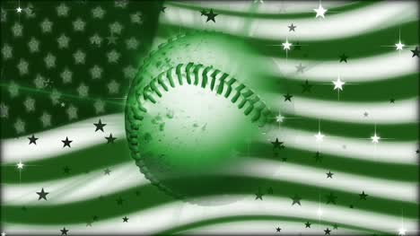 Spinning-Baseball-with-American-Flag