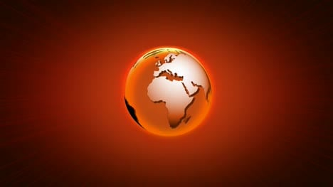Rotating-World-Orange-Black-Background