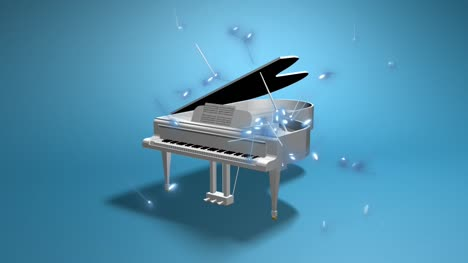 Spilling-Music-Notes-Piano-Blue