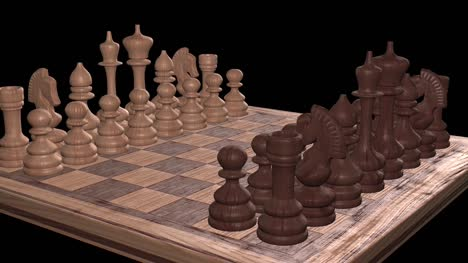 Chess-Board-Rotating-Dark