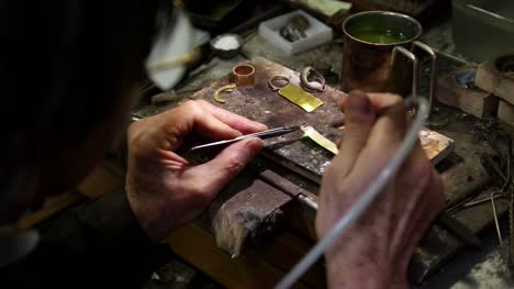 Jewellery-Making---Heating-Gold-Watch-Strap