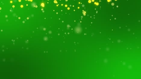 Gold-Sparkles-on-Green-Background-Loop