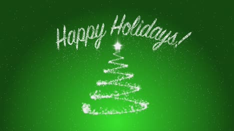 Happy-Holidays-on-Green-Background