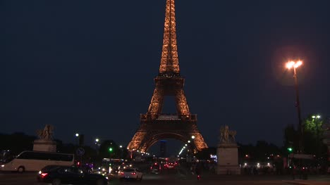 Eiffel-Tower-Night-Time-Tilt-Shot