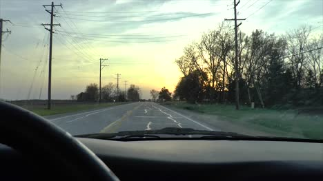 Driving-at-Sunset