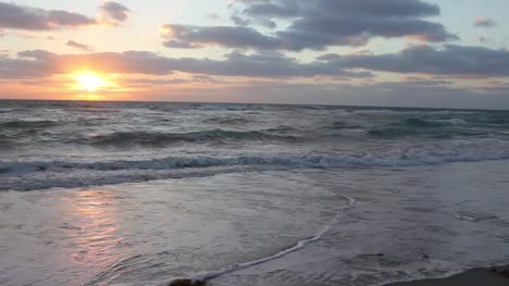 Ocean-Waves-at-Sunset-HD-Stock-Clip-