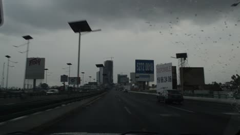 Mexico-Raining-on-Highway
