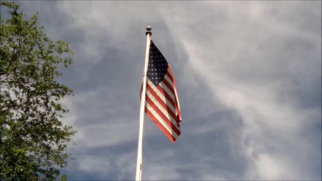 Flagpost-with-US-Flag