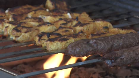 Kebabs-on-Grill