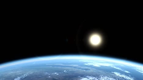 Earth-From-Space-Animation