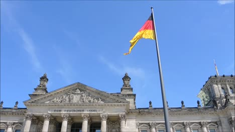 German-Flag-in-Front-of-Reichstag-Building