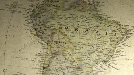 Panning-Across-a-Vintage-Map-to-Brazil