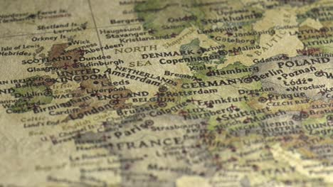 Panning-on-a-Vintage-Map-Across-to-Germany