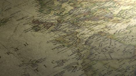 Panning-Across-a-Vintage-Map-to-Europe-2