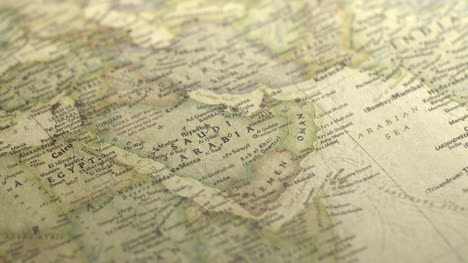 Pan-Across-to-Saudi-Arabia-on-a-Vintage-Map-2