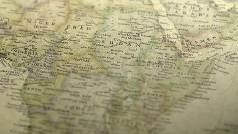 Pan-Across-to-Sudan-on-a-Vintage-Map