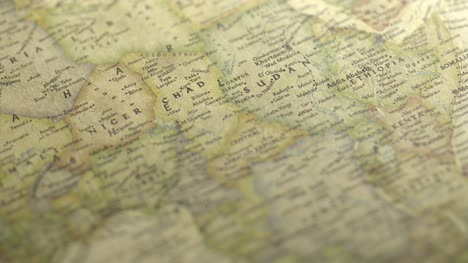 Panning-on-a-Vintage-Map-Across-to-Sudan